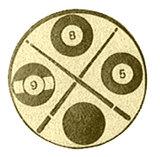 Biljart afbeelding voor bekers en sportprijzen goud