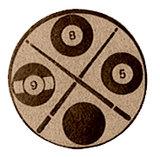 Biljart afbeelding voor bekers en sportprijzen brons