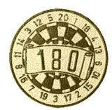 Darts afslag 180 goud