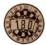 Darts afslag 180 brons