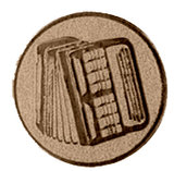Accordeon afbeelding voor bekers en medailles brons