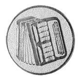 Accordeon afbeelding voor bekers en medailles zilver