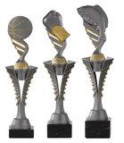 Zilveren sportprijs met afschroefbaar opzetstuk