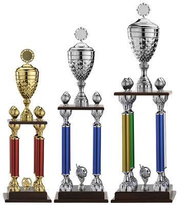Luxe wisselbokaal in diverse kleuren - 3 Groottes