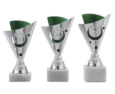 Voetbal sportprijs met groen accent