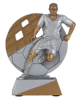 Voetbal sportprijs inclusief tekstplaatje