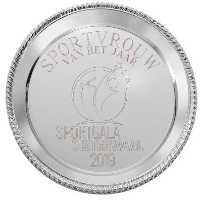 Zilveren kampioensschaal inclusief gratis gravure