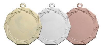 Medaille in het goud, zilver of brons