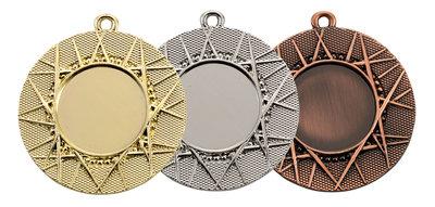 Medaille luxe in het goud, zilver of brons