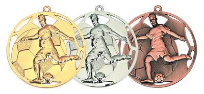 Medailles voetbal goud, zilver of brons