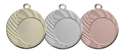 Budget medaille in het goud, zilver of brons