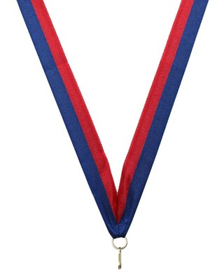 Medaille lint Blauw-rood