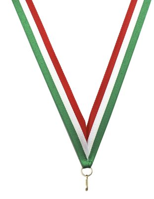 Medaille lint Groen-wit-rood