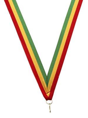 Medaille lint Rood-geel-groen