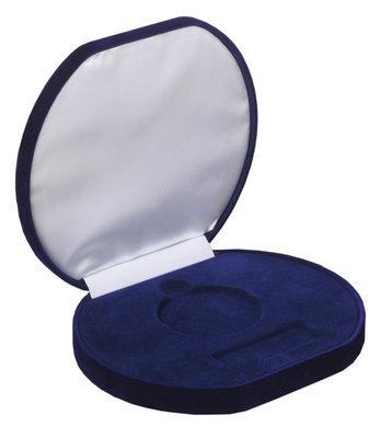 Luxe medaille doos blauw 50/70/90 mm