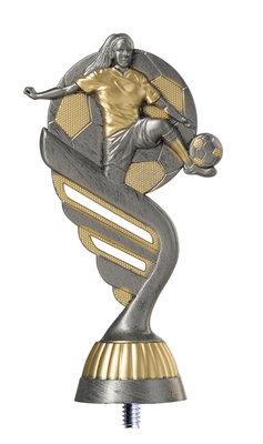 Dames voetbal opzetstuk in het Zilver of Antiek