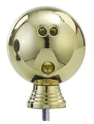 Bowling opzetstuk in het goud luxe