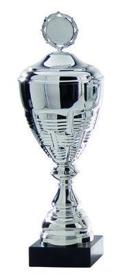 Luxe zilveren beker met afbeelding naar keuze