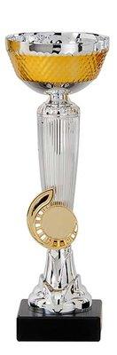 Zilveren sportprijs met goud accent