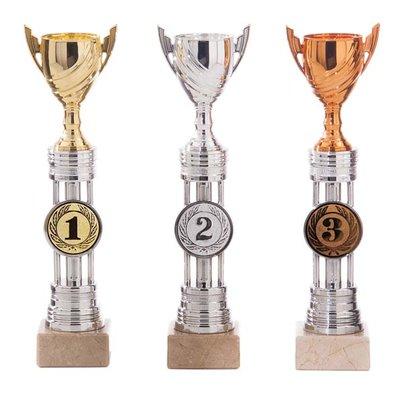 Leuke sportprijs in het goud, zilver of brons