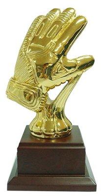 Gouden keepers handschoen