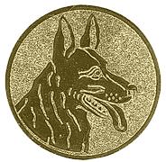Herdershonden afbeelding voor medailles en trofeeën goud