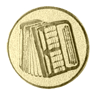 Accordeon afbeelding voor bekers en medailles goud