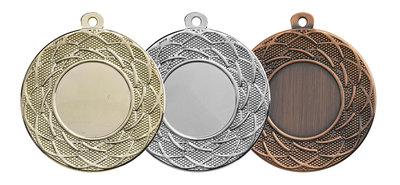 Luxe medaille in het goud, zilver of brons