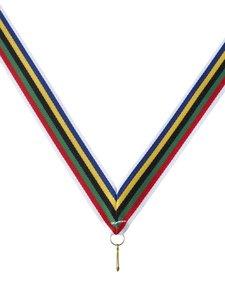Regenboog halslint in diverse kleuren voor medailles